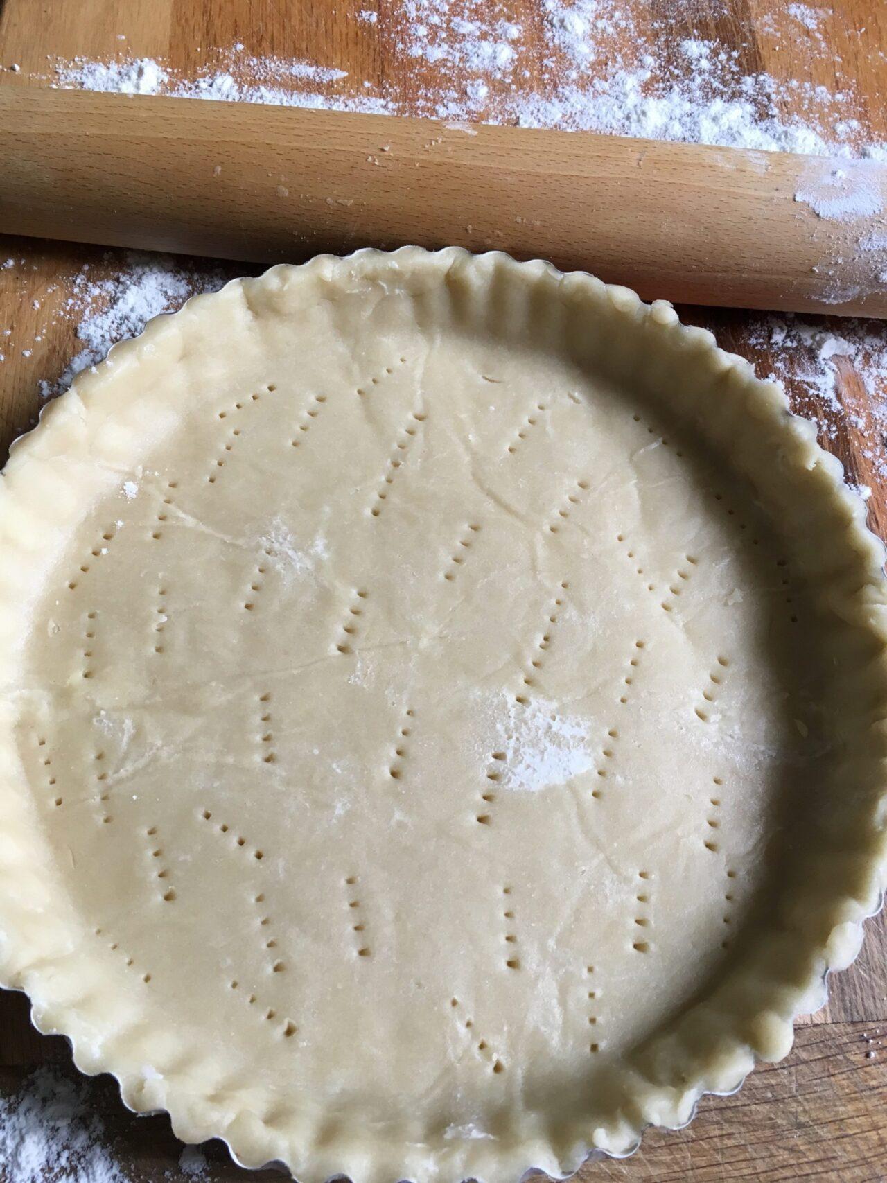 shortbread crust dough