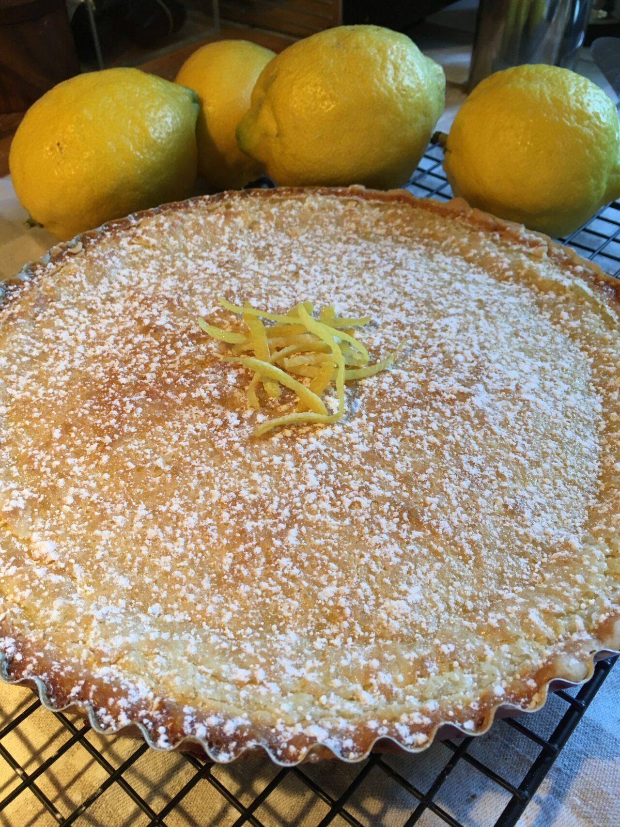 finished lemon coconut pie
