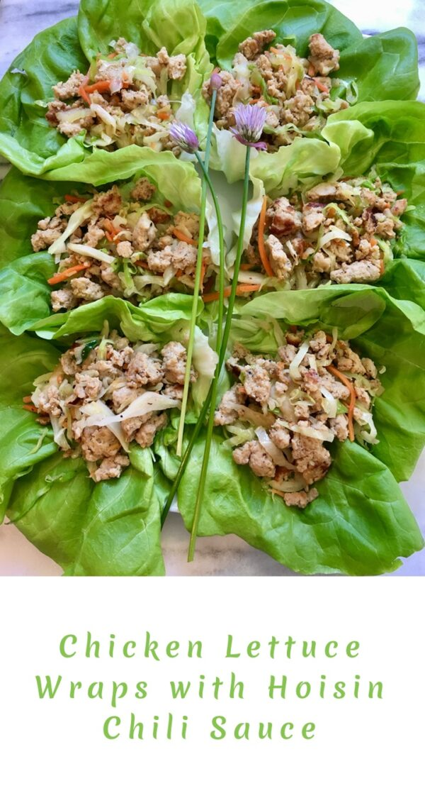 Chicken Lettuce Wraps with Hoisin Chili Sauce
