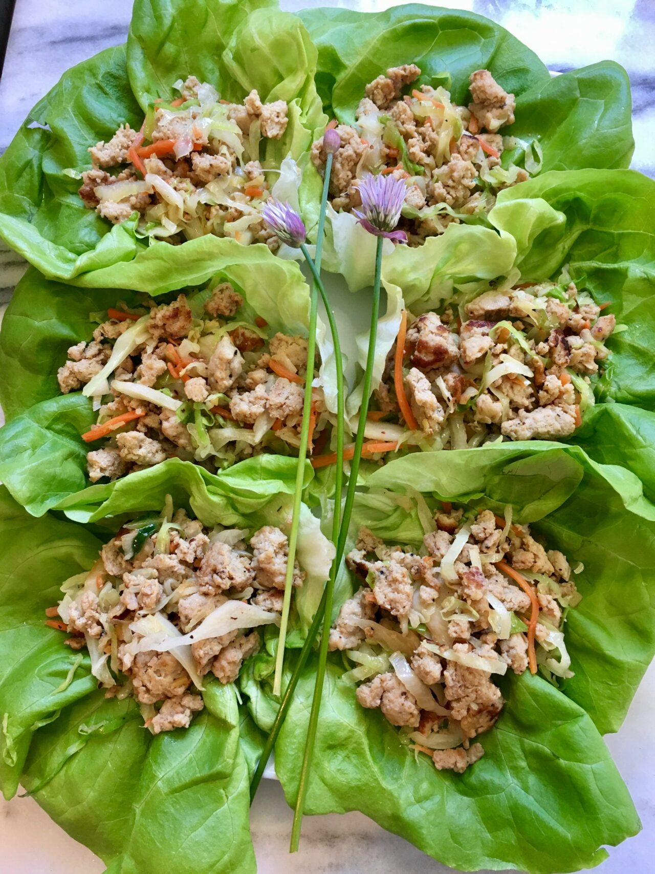 finished chicken lettuce wraps
