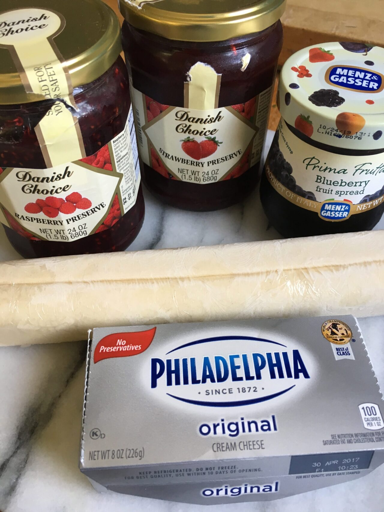 ingredients for berry turnovers
