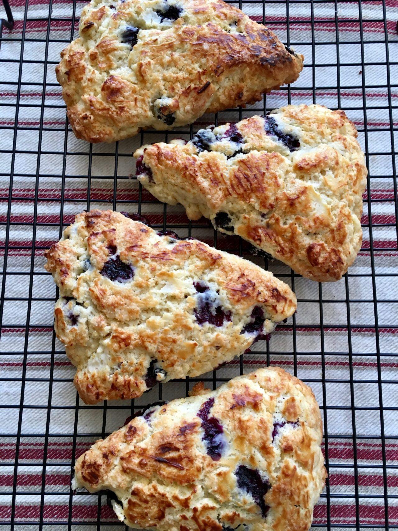 Meyer lemon blueberry scones