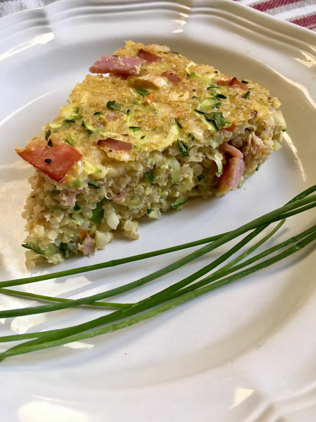 Quinoa Egg Bake slice