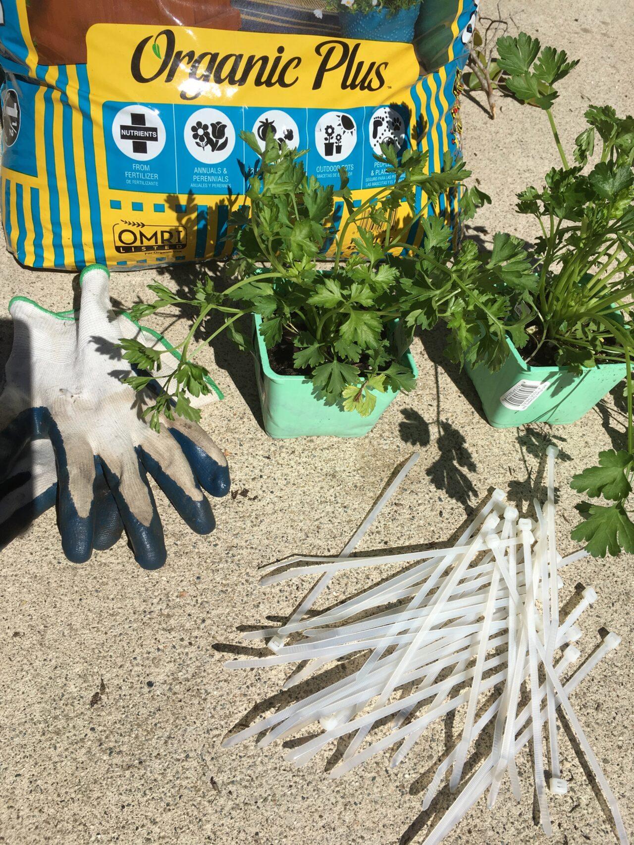 vertical gardening materials