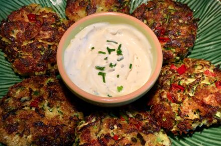 shrimp and zucchini cakes