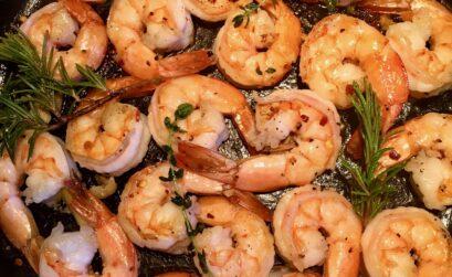 Garlic Herb Shrimp Skillet