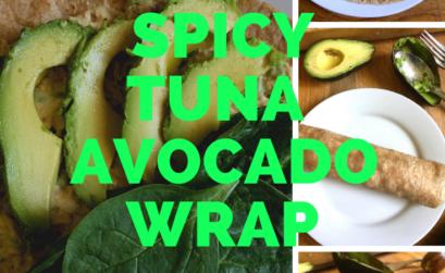 spicy tuna avocado wrap